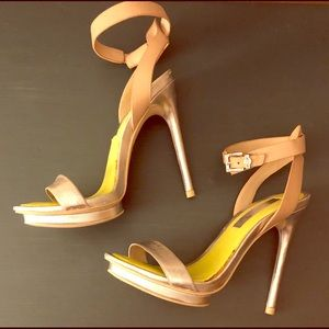 BCBG ankle strap stilettos